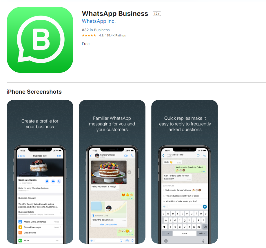WhatsApp Business for windows