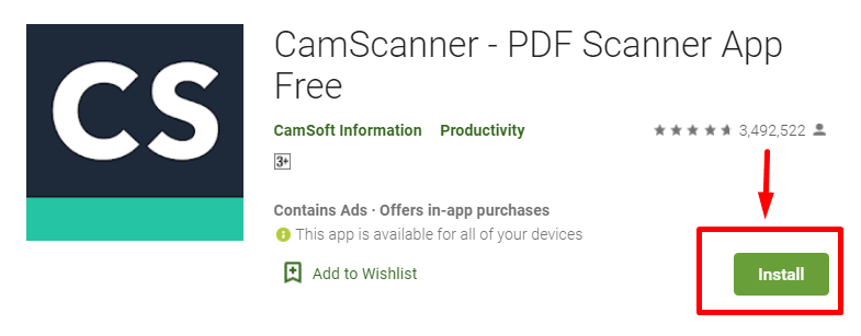How to Download and Install CamScanner for MAC