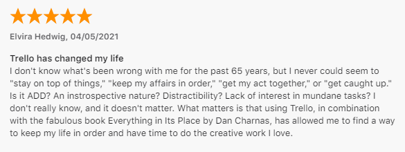 another customer review of Trello for Mac