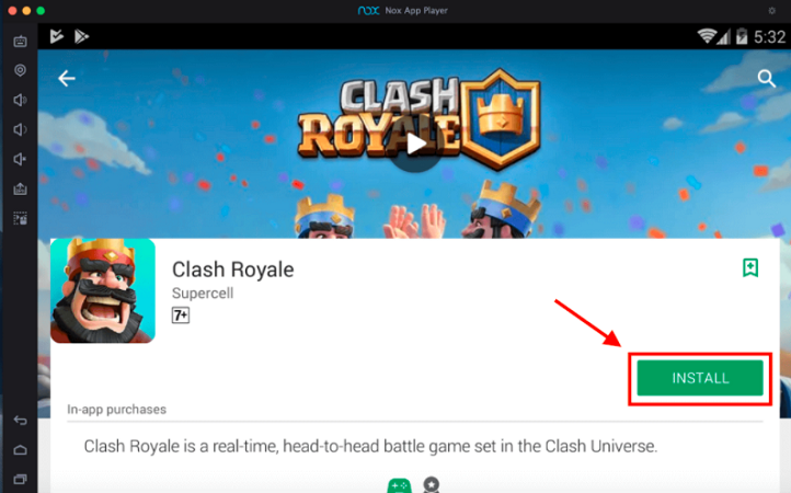 Install Clash Royale