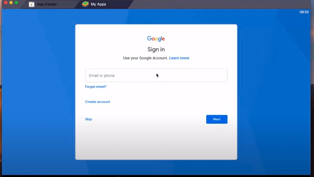 sign in with a gmail to Download & Install Cute Cute