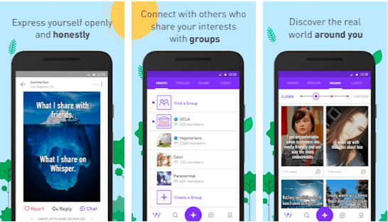 Features That Whisper Offers