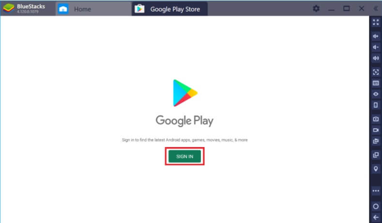 Log in to the Play Store