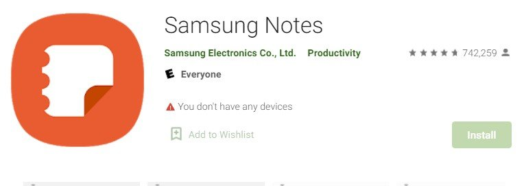 Samsung Notes for Mac