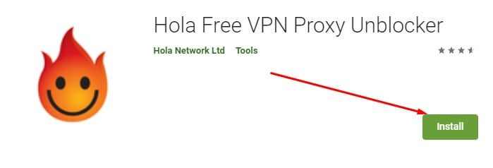 download and install Hola VPN for Mac