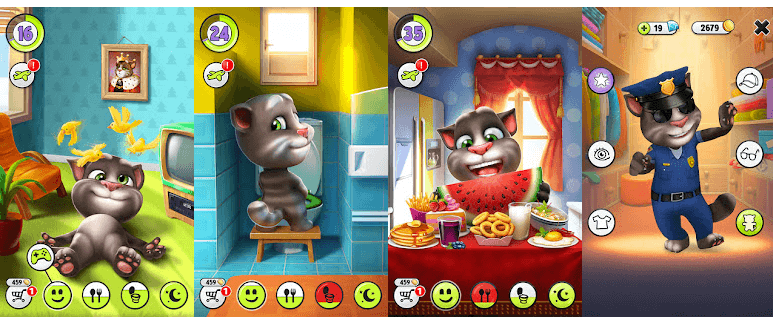features of Talking Tom for Mac