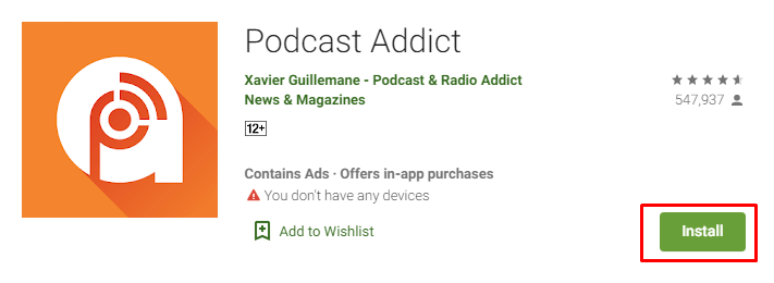 how To download Podcast Addict for Mac