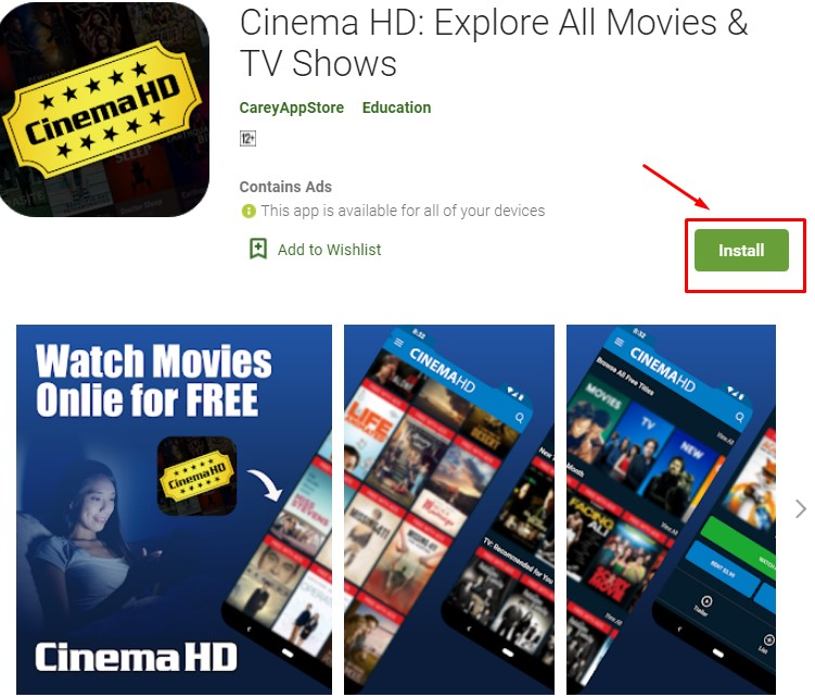 how to download and install Cinema HD for mac