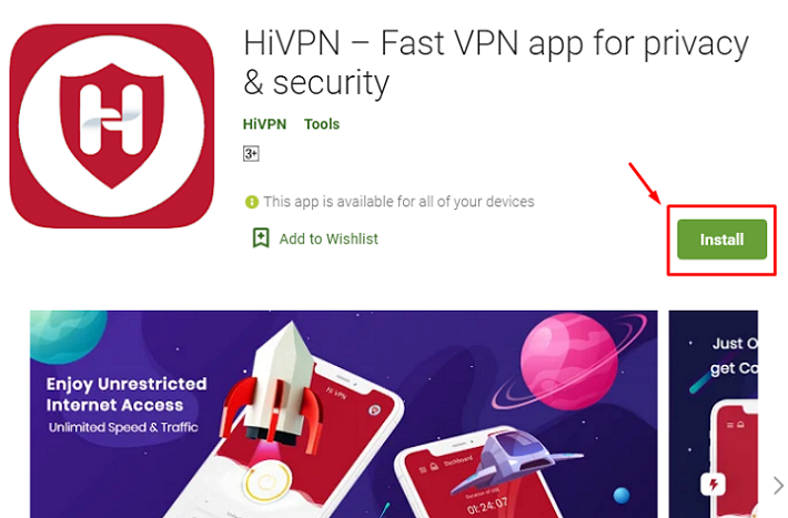 how to download and install Hi VPN for Mac