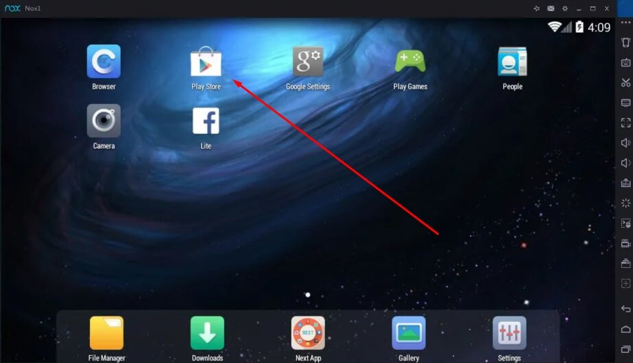 launch play store to downlaod Township for Mac