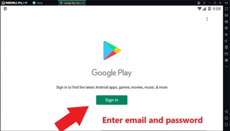 login with a gmail to Download and Install Saavn for Mac