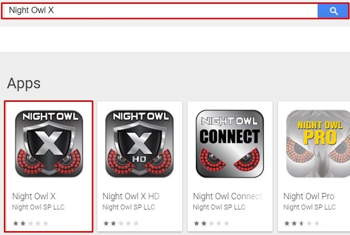 search for Night Owl X for Mac