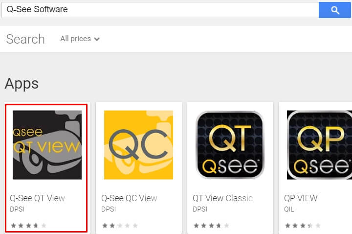 search for Qsee Software for Mac