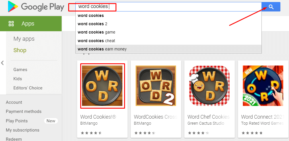 search to Download and Install Word Cookies for Mac
