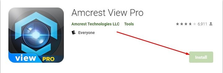 download and install Amcrest View Pro for Mac