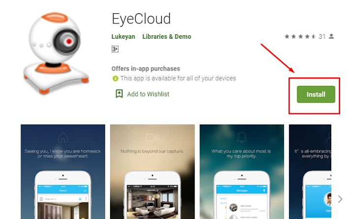 download and install Eye Cloud for MAC
