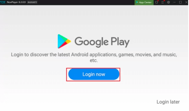 login with gmail to Download IPTV for MAC Using nox Emulator