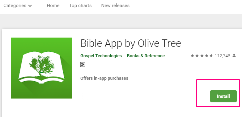 Download & Install Bible by Olive Tree with Bluestacks Emulator