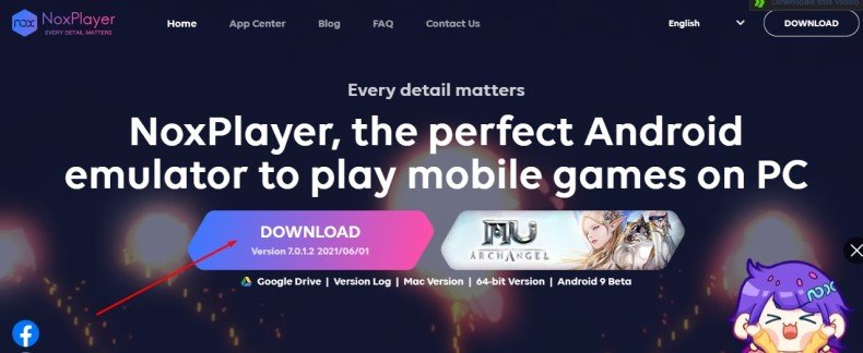 Download & Install Nox player for mac