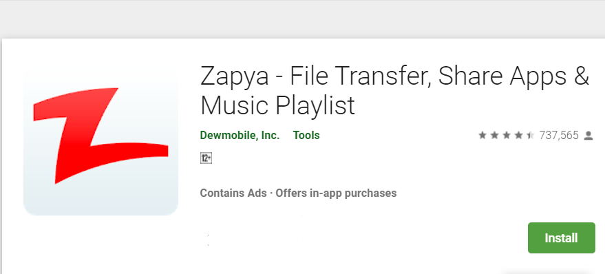 Download Zapya for Mac With Nox Player