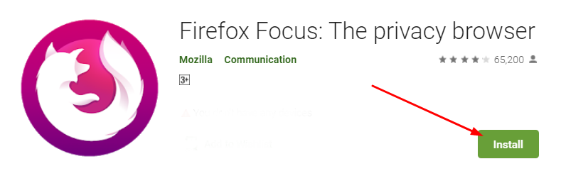Download and install Firefox Focus for Mac
