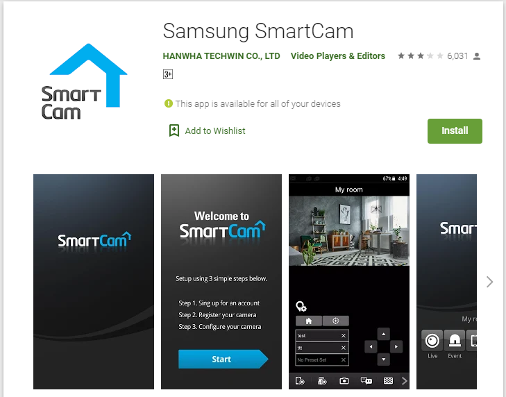 Download and install Samsung SmartCam for Mac