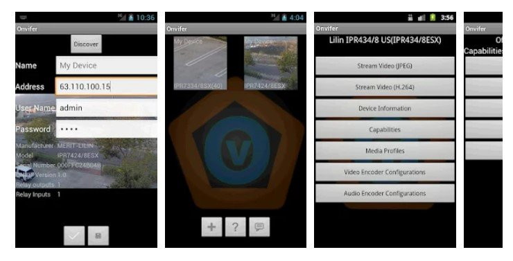 Features of Onvifer App