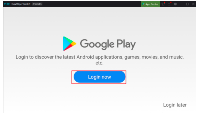 Sign In to the Play Store