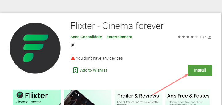 download and install Flixster App for Mac