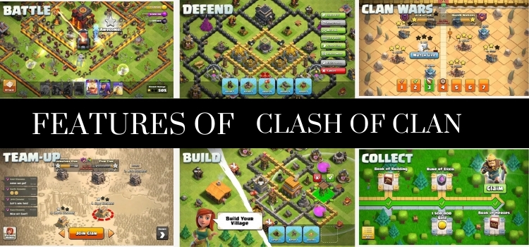 features of clash of clan