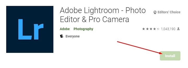 how to download and install Adobe Lightroom for Mac