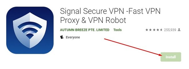 how to install Signal Secure VPN for Mac